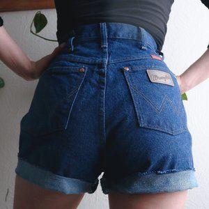 [wrangler] vintage 90s high rise denim mom shorts